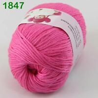 Sale New 1ballx50g Soft Cashmere Silk Wool Baby Children Hand Knitting Yarn 47