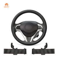 DIY Black Artificial Leather Steering Wheel Cover for Honda CR-Z CRZ 2011-2016