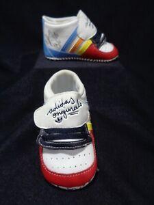 Boy Baby Adidas Originals Ortholite Size 2 Soft leather prewalkers.