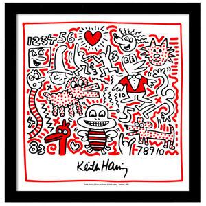 Keith Haring BUSY BEE 12x12 Framed Giclee Pop Art Print **SALE