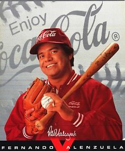 SPORTS POSTER~Fernando Valenzuela Coke Advertising Dodgers Original 1980's NOS~