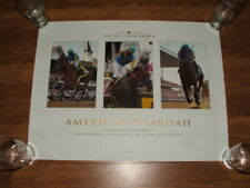 AMERICAN PHAROAH 2015 TRIPLE CROWN HORSE POSTER Kentucky Derby Belmont Stakes