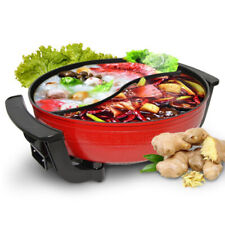 220v Twin Hot Pot Divided Electric Cookware Ruled Compatible Soup Tool 6l UK