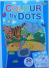 Colour by Dots book - blue cover