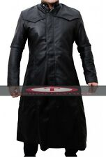 Neo Matrix Keanu Reeves Black Leather Trench Coat High Quality