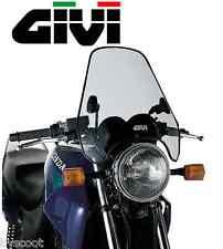 Bulle pare-brise universel GIVI A604 2 points 37,9 x 44,5 cm moto fumé NEUF