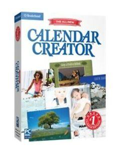 Broderbund Calendar Creator V13 for Windows & Mac SEALED Retail Box