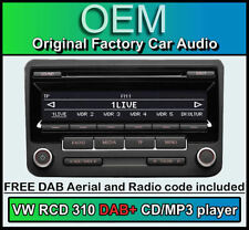 VW RCD 310 DAB+ Radio Digitale, TRANSPORTER T5 GRUPPO LETTORE CD, codice