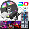 5M RGB 5050 Waterproof LED Strip light SMD 44Key Remote 12V US Power Full Kit BL