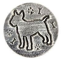 """Bull Terrier mold garden plaque plaster concrete casting mould 7.75"""" x 3/4"""""""