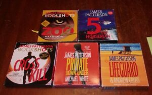 5 Unabridged Mystery Thriller Audiobooks by James Patterson on CDs Lot #13