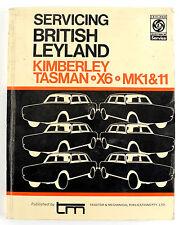 Austin Kimberly Tasman  X6 MK1&11 workshop manual 1972