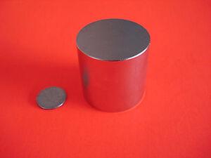 "2 Powerful Grade N42 1x1"" Inch Rare Earth Neodymium Cylinder Magnets"