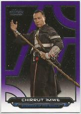 Star Wars Galactic Files Reborn ~PURPLE Parallel Base Card RO-3 Chirrut Imwe /99