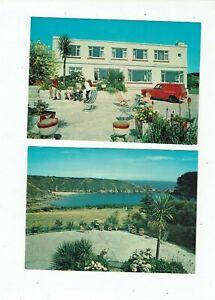 POSTCARDS COLOUR PHOTOS TWO CARDS  THE HOTEL BON PORT, GUERNSEY.