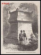GRAVURE MONUMENT DES PRISONNIERS FRANCAIS à PENYCUICK - HOUSE ECOSSE  1856 - 2H