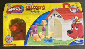 NEW Clifford The Big Red Dog Play Doh Playset - Brand New Sealed RARE 2002
