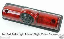 Backup Camera Kit IR Night Vision 3rd Brake Light for Utility Truck and RV Van