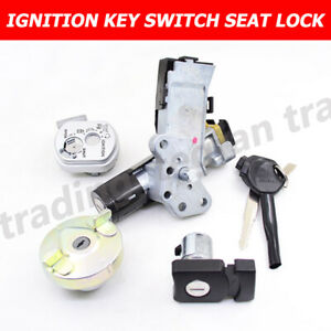For HONDA LEAD NHX 110 NHX110 IGNITION KEY BARREL SWITCH 2008-12 WITH SEAT LOCK
