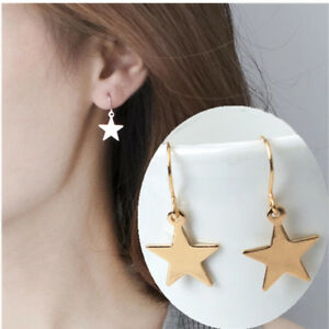 Star Earrings star drop earrings Silver or Gold Gift idea Party FREE POSTAGE