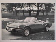TRIUMPH SPITFIRE 1500 orig 1974 UK Mkt Sales Brochure