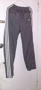 Vintage Y2K Adidas Windbreaker Cargo Pants Mens Small Gray Button-Up VTG