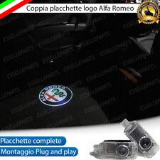 2 PROIETTORI LOGO LUCI LED ALFA 159 PORTE SOTTOPORTA NEW LOGO ALFA ROMEO