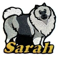 Keeshond Dog Custom Iron-on Patch With Name Personalized Free