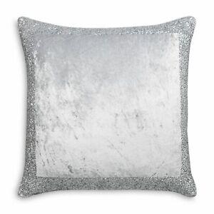 Hudson Park EURO Pillow Sham Artistry Beaded Silver 282