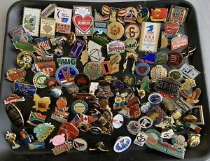 Lot of over 100 Pins: Many Subjects, Clean with Backs