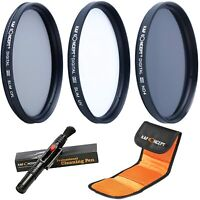 K&F Concept 72mm UV CPL ND4 Slim Filter Kit + Cleaning Pen + Filter Bag Pouch