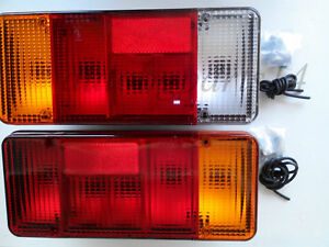 New 2x Rear Tail Lights for Iveco Daily Eurocargo Fiat Peugeot Truck Chassis Cab