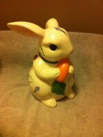 LENOX  POPPIES ON BLUE  BUNNY COOKIE JAR  EASTER  SPRING  RABBIT--FREE SHIP--VGC