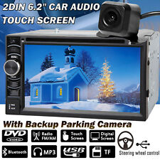 For Volkswage 6.2'' Car Stereo Radio Double 2 DIN In Dash Audio + Backup Camera
