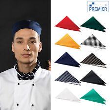 More details for premier unisex chef's scarf (pr654) - triangular chefs plain neck work wear
