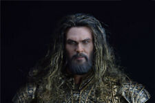 BY-ART 1/6 Aquaman Head Carved Sculpt Planted Hair For 12'' Male Action Figure