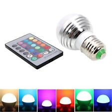 E27 3W Magic RGB Colors Changing LED Light Bulb Remote Control Energy AC85-265V