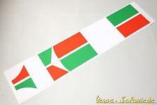 "VESPA Banner Kotflügel & Seitenhaube ""Italian Flag"" - Italy Italien Aufkleber"