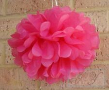6x 25cm hot pink paper pom poms wedding birthday party events venue decoration