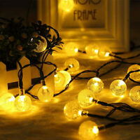 2/3/5 M 50 LED Solar Power Fairy Lights Crystal Ball Garden Outdoor Party Xmas
