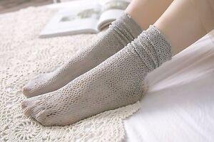 NEW Women Lady Girls Fancy Retro Lace Ruffle frilly princess Fashion Loose Socks