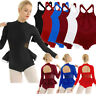 Women Adult Shiny Ballet Leotard Gymnastics Dance Dress Bodysuit Skate Dancewear