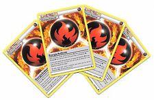 Pokemon 4 ENERGIA ARDIENTE 152/162 Burning Español BREAKThrough NM Spanish x4