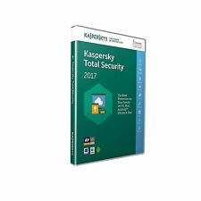 KASPERSKY TOTAL SECURITY 2017 5 PC DEVICE - MULTI DEVICE - New and Sealed UK Box