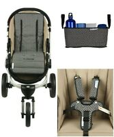Keep Me Cosy® Pram Liner + Organiser + Harness Covers Bundle Set - Ink Spot