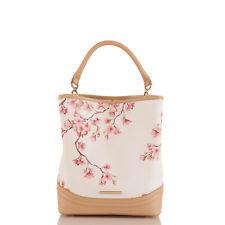 $355 NEW NWT BRAHMIN AMELIA CHERRY BLOSSOM KENTISH BUCKET BAG TOTE HANDBAG PURSE