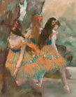 Ballerina Art Print CANVAS Ballet Dancers Edgar Degas Wall Decor Print Giclee SM