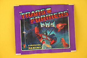1 PACK Transformers G1 Figurine Panini Sticker 1986 Sealed made in Italy Modena