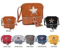 LeahWard Women's Tassel Cross Body Bags Girl's Glitter Star Shoulder Handbags