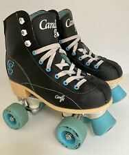 New listing Candi Girl Womens Size 5 Roller Derby Sabina Roller Skates Black Turquoise